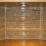 Glass tile splash