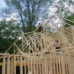 Setting trusses