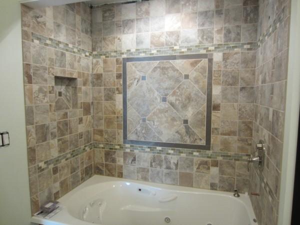 Guest bath tile surround
