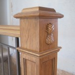 Hickory newel post