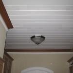 Laundry wood ceiling