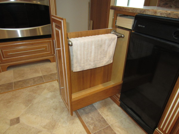 Auto open towel drawer