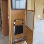 End panel door open