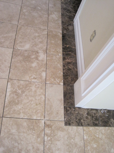 Entry marble tile and border