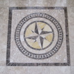 Marble entry medallion