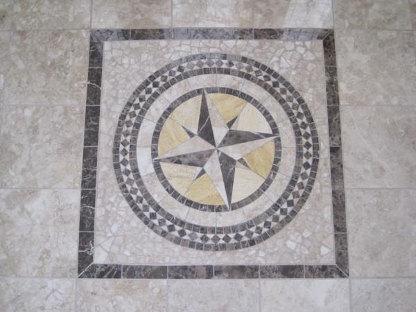 Marble entry medallion