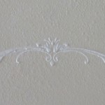 Raised plaster wall art