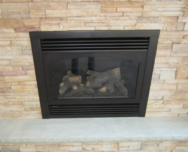 Sunroom fireplace