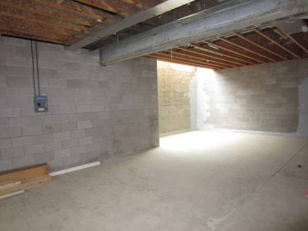 10' high basement with skylight