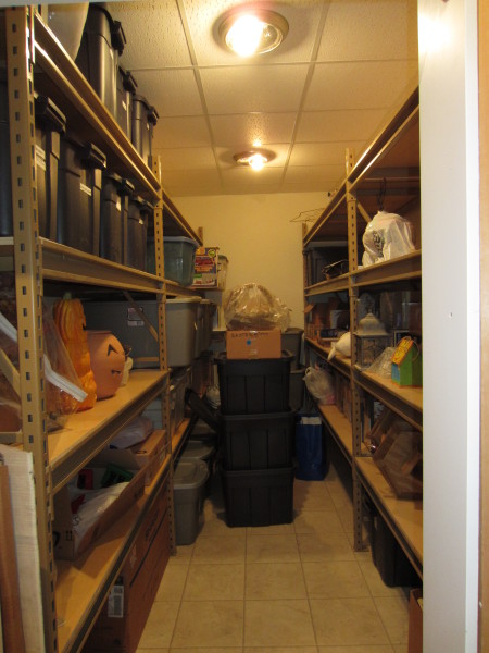 Jan's holiday storage room