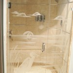 Mstr etched shower doors